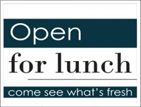 Image: Open for lunch template