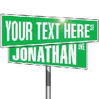 Personalized Street Signs - 50% OFF