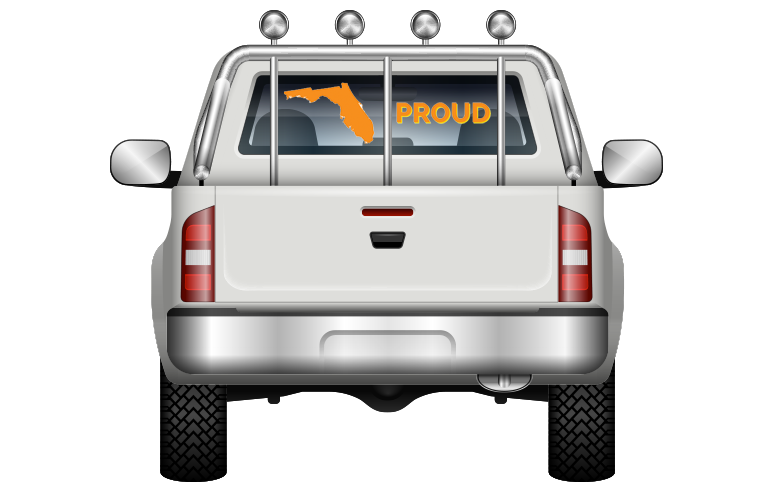 Pick-Up Truck Perforated Rear Window Wrap Fathers Oldschool Workshop